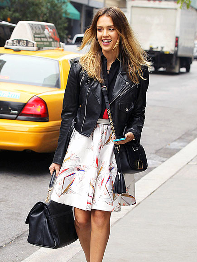 Jessica Alba | International Street Style