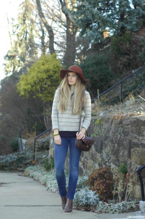 OrchidGrey_pitsburg. stripes hat