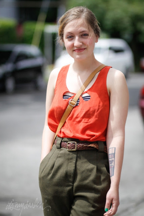 Brianne Salinis American Apparel Military Pants seattle street style fashion