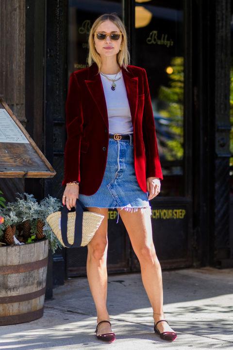 nyc-pernille-teisbaek-street-style-velvet-blazer